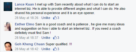 testimonial about Sam Choo Coaching