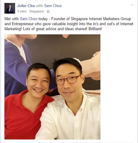 testimonial from John Cho