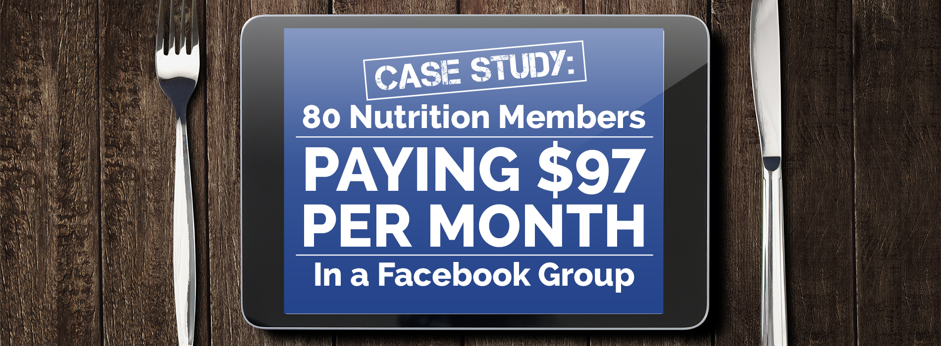 Nutrition Members Paying $97 Per Month In a Facebook Group