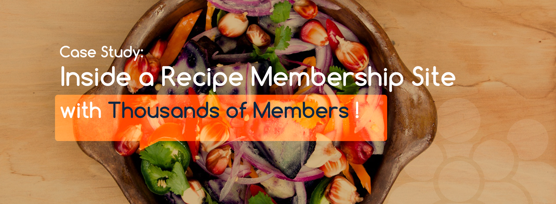 Inside a Recipe Membership Site